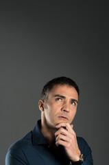 Contemplated Mature Man