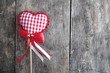 handmade  knitted heart shape