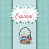 Easter greeting vector illustration