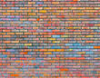 Colorful brick wall texture - 62403381