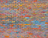 Colorful brick wall texture