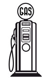 retro gasoline pump vector