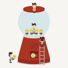 Businessman make idea