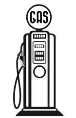retro gasoline pump vector