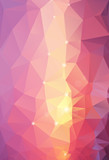 Abstract Triangle Geometrical Multicolored Background, Vector Il