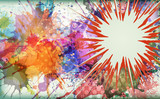 Watercolor explosion - abstract background.
