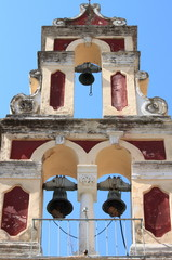Orthodox bell tower in Corfu, Greece