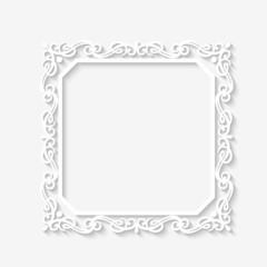 Vector vintage baroque white frame