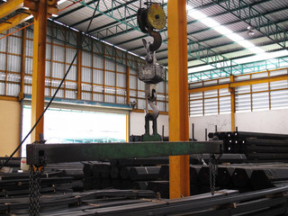 Machine in Steel warehouse