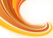 Orange abstract whirlwind. Vector