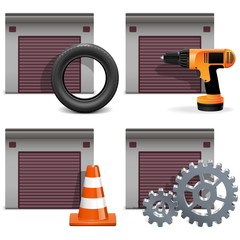 Vector Garage Icons set 2