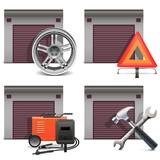 Vector Garage Icons set 3