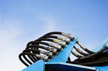 Panel zur Verbindung von Schlauch einer Hydraulik