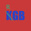 KGB inscription on a red background.  vector eps8