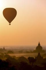 Sunrise silhouette of Bagan - Myanmar
