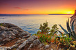 Amazing sunset on a sea,Makarska,Dalamatia,Croatia