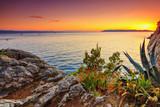 Fototapety Amazing sunset on a sea,Makarska,Dalamatia,Croatia