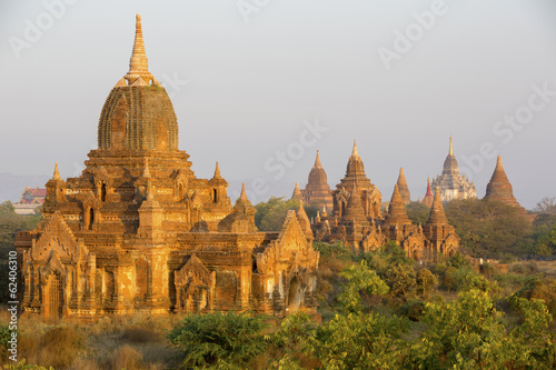 Sunrise glow on the temples of Bagan - Myanmar