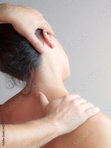 Leinwanddruck Bild Fisioterapia X