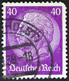 A stamp printed in Germany shows portrait of Paul von Hindenburg