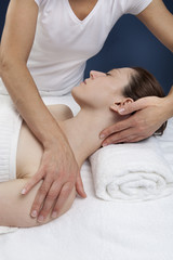 female practitioner for ayurveda massage