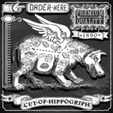 Vintage Blackboard of Cut of Hippogriph