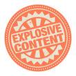 Abstract stamp or label with the text Explosive content written