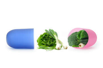 Vitamins and minerals concept
