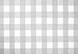 gray checked fabric tablecloth