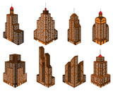 Skyscrapers in perspective (retro)