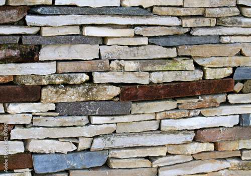 ancient enclosure wall made ??of dry stones