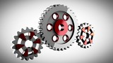 Gear wheels rotate
