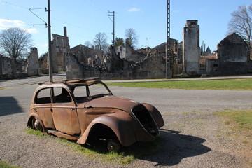 Village ruiné d'Oradour-sur-Glane.