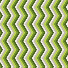 Zigzag green seamless pattern