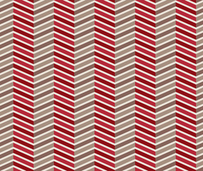 Zigzag red and brown seamless pattern