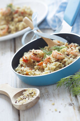 Quinoa and bulgur pilaf
