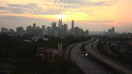 route to Kuala Lumpur city