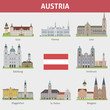 Austria. Symbols of cities