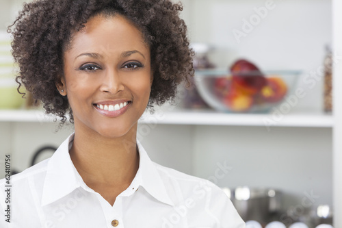 Mixed Race African American Girl in Kitchen