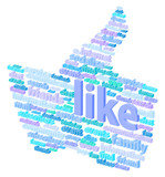Social Media Thumb Up Communication Concept Vector