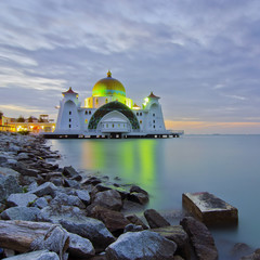 Malacca Straits Mosque (Masjid Selat Melaka) is a mosque located