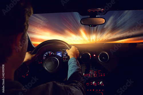 canvas print picture Night Drive