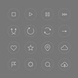 Interface pictograms vector collection