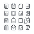 Different vertical Web icons set with rounded corners. Design el