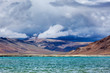 Himalayan lake Tso Kar in Himalayas, Ladakh, India