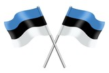 Two Estonian flags