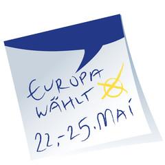 Post-it,Wahlzettel,Sprechblase,Europawahl,Vektor,frei