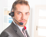 Telephone Operator in call center