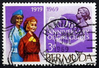 Postage stamp Bermuda 1969 Bermuda Girl Guides