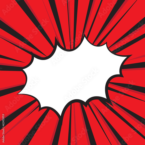 Boom comic book explosion, Vector illustration comic style